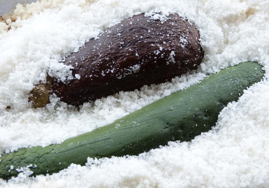 Verduras asadas a la sal - Plato sano y ligero