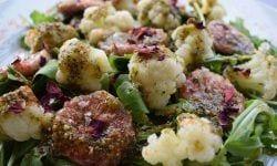 Ensalada de rucula con brevas y coliflor principal- Receta de verano