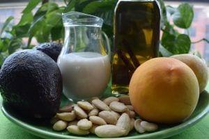 Aperitivo frío-Ingredientes Carpaccio de aguacate y melocoton