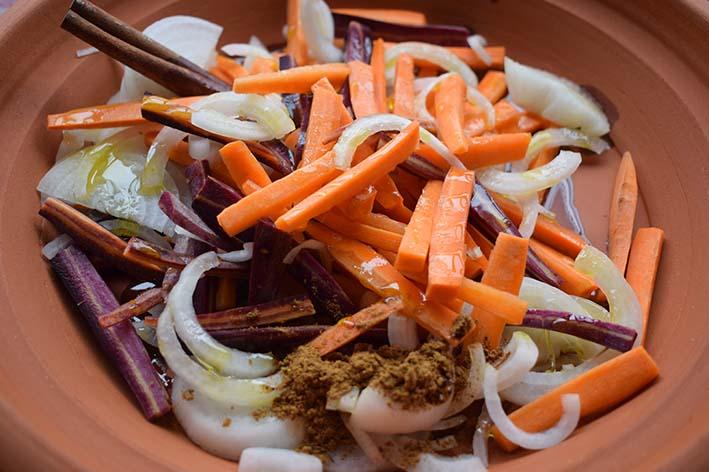 Tajin de verdura con garbanzos - Rehogado