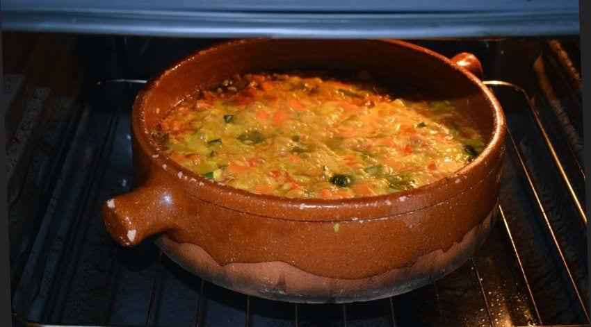 Arroz al horno con alioli de coliflor - Al horno