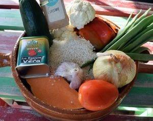 Arroz al horno con alioli de coliflor - Ingredientes