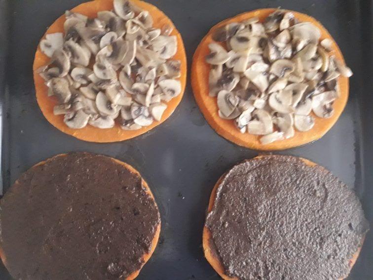 Pizza de calabaza - Proceso pizzas 1 y 2