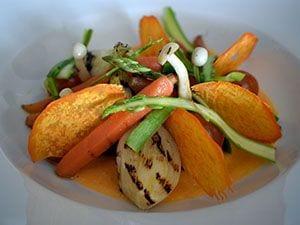 Mosaico de verduras en texturas - Valor nutricional