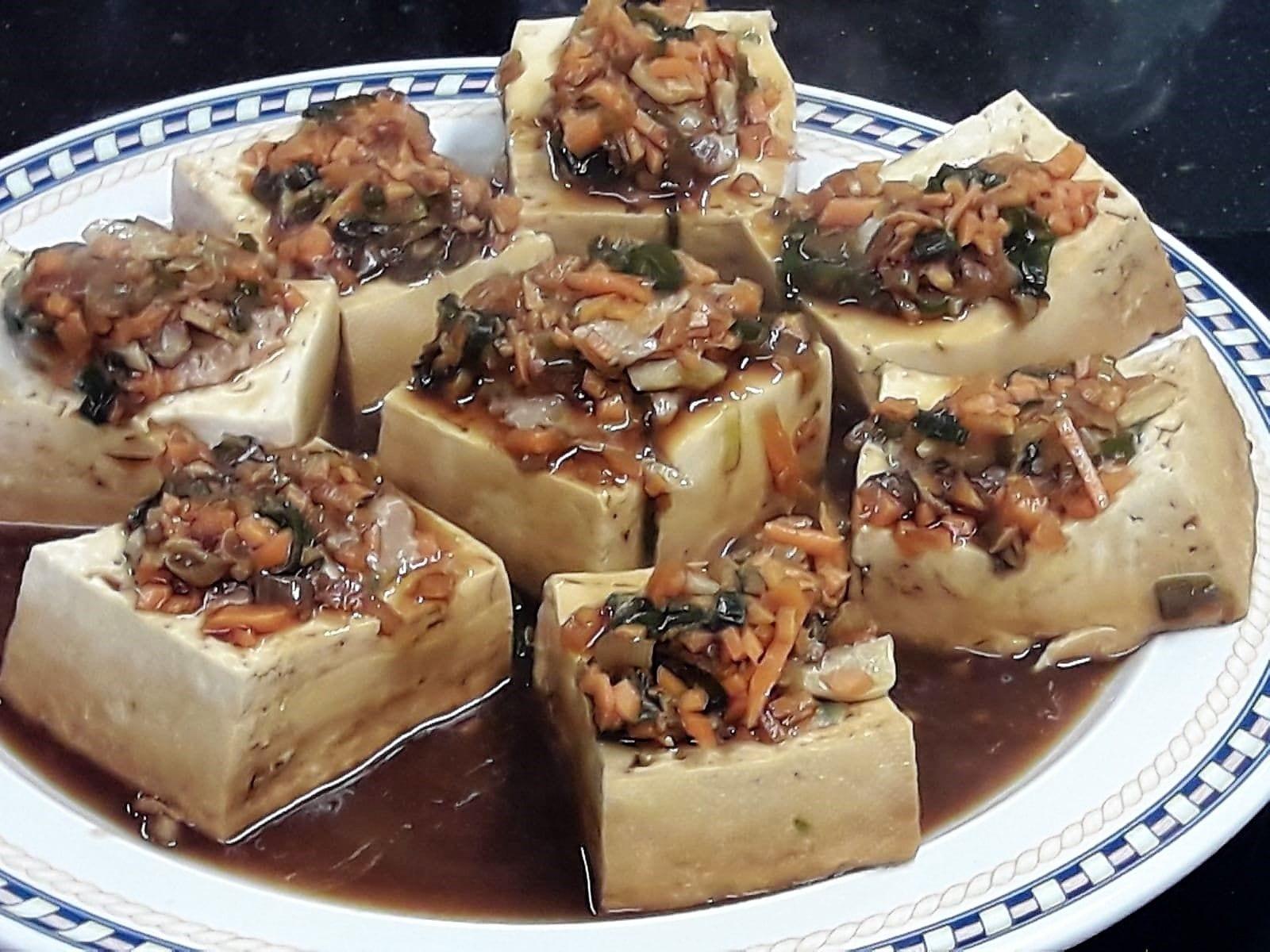 Tofu relleno de carne