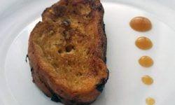 Torrijas de vermut y mandarina