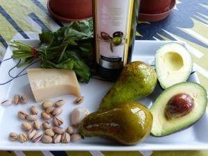 Ingredientes Carpaccio de pera
