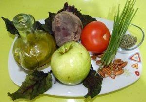 Tartar de remolacha, manzana verde y tomate