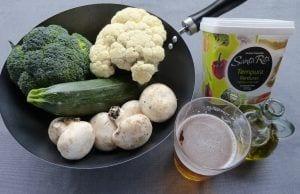 Ingredientes tempura de verduras. La cocina de Berni - Madrid