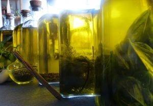Aceites aromatizados macerados - Cocinar con verduras