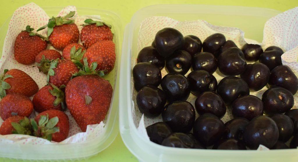 Conservar verduras -Conservar fresas y cerezas -