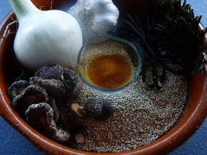 Ingredientes paella de quinoa