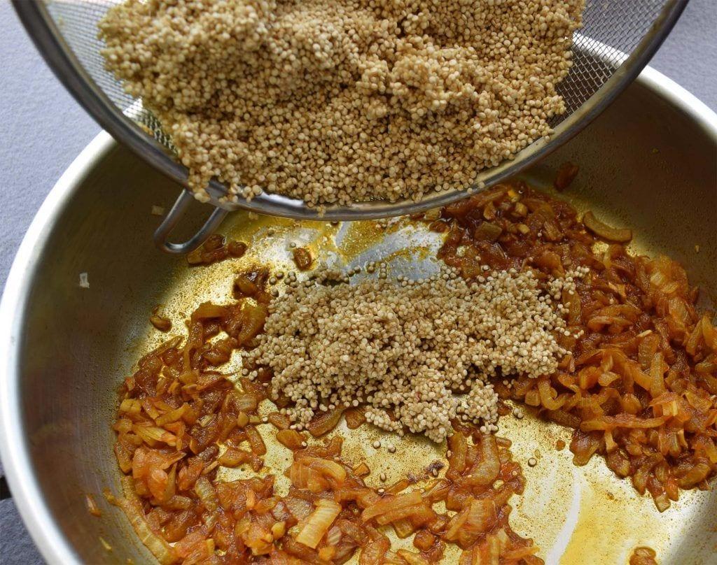 Paella de quinoa - Sofrito