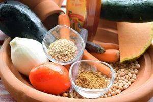 Tajin de verdura con garbanzos - Ingredientes