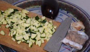 Ingredientes albondigas de zanahorias con berenjenas