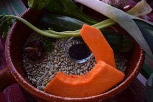 Judias verdinas con calabaza ingredientes