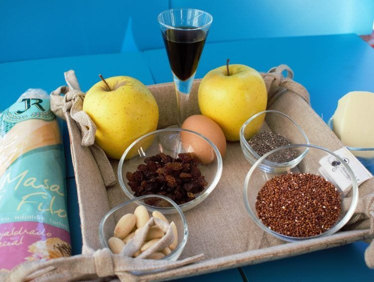 Ingredientes strudel de manzana con quinoa