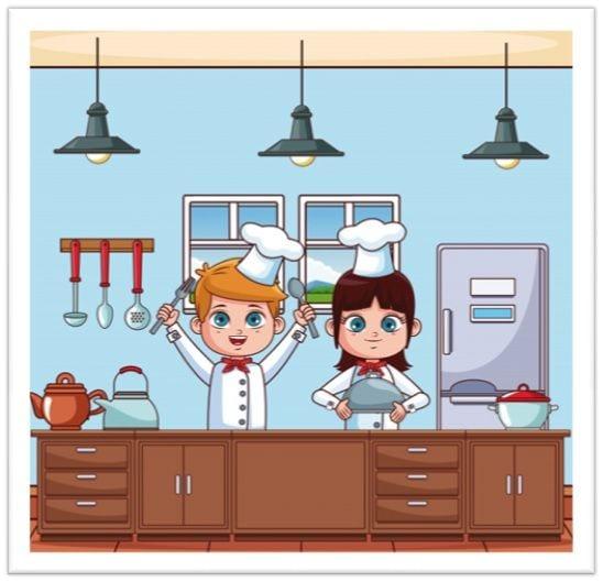 Cocina para niños - Aprender a comer bien