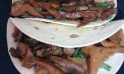 Tacos con setas y heura